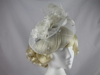 Plaza Suite NY Flower and Veil Headpiece